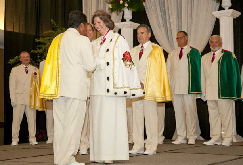 by: SUBMITTED - Gayle Whitehurst was given the title prime minister during the installation ceremony Sept. 22.