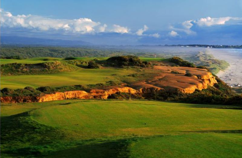 by: COURTESY OF BANDON DUNES - The 16th hole at Bandon Dunes Golf Resort.