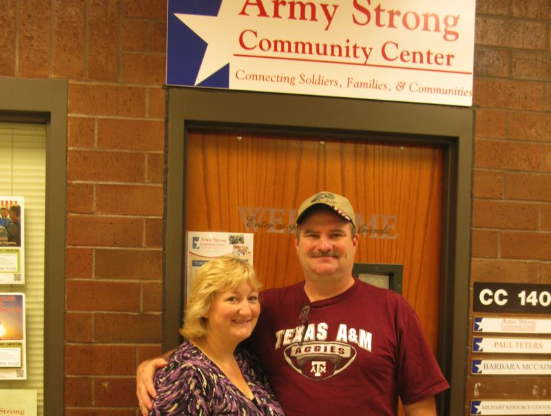 by: RAYMOND RENDLEMAN - Beavercreek resident Barry McCain and his wife, Barbara, who's the customer support coordinator for the Army Strong Community Center at Clackamas Community College, support the Returning Veterans Project.