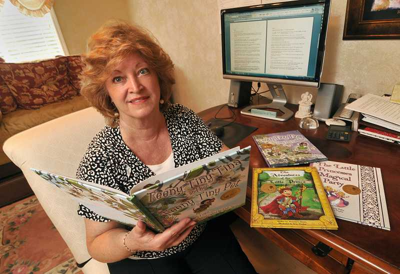 by: REVIEW PHOTO: VERN UYETAKE - Lake Oswego author Rosemary Evans recently received four Mom's Choice Gold Medals for her Teeny Tiny Tina book series, and her other children's books, 'The Adventures of the Little Prince' and 'The Princesses  Magic Party.'
