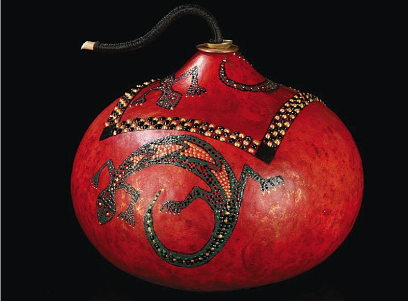 by: COURTESY OF WILD ARTS FESTIVAL - Wild Arts Festival highlights: Former chef turned artist Susanne Newbold fashions beautiful gourds using leather dyes, acrylic paint, fiber, found objects, see grass and pine needles.