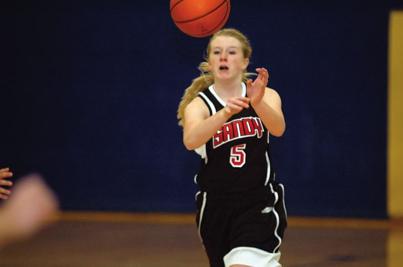by: FILE PHOTO: KRISTOPHER ANDERSON  - Sophomore Molly Nutt is one of only three returing players on the Sandy girls basketball team. The Pioneers opened the 2012 season with tryouts and the roster will be determined by Wednesday.