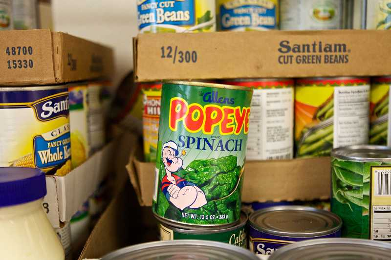 by: JAIME VALDEZ - The pantry stocks a variety of foods for families including canned goods, fresh produce, bread, beans and nonperishables.