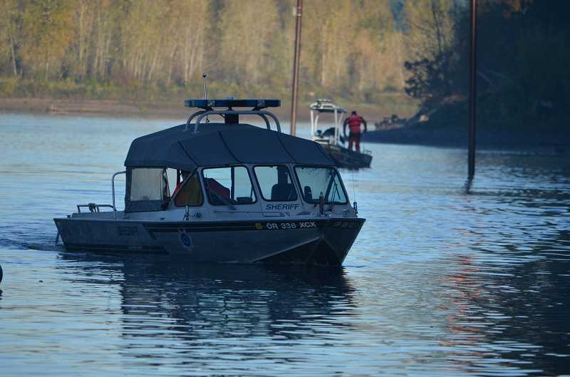 by: CLACKAMAS COUNTY SHERIFF'S OFFICE - Before sheriff's office boats could arrive, three West Linn fishermen assisted with saving a woman from drowning Wednesday.