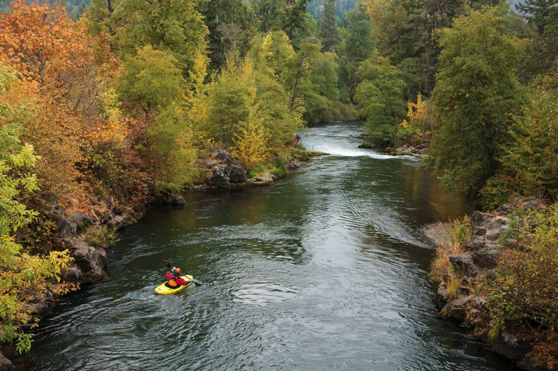 by: PAMPLIN MEDIA GROUP: CHRISTOPHER ONSTOTT - Kayakers can enjoy more white-water paddling on the White Salmon River north of Hood River since the Condit Dam was removed.
