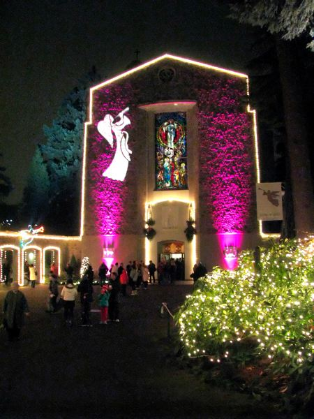 by: FILE PHOTO - Colorful lights adorn the Grotto's 600-seat chapel, which features several choral performances during the Christmas season.