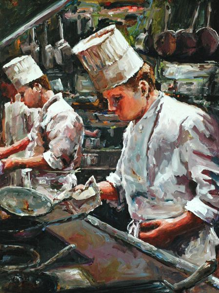 by: CONTRIBUTED PHOTO -  'Top Chefs' by Vancouver painter Bev Jozwiak.
