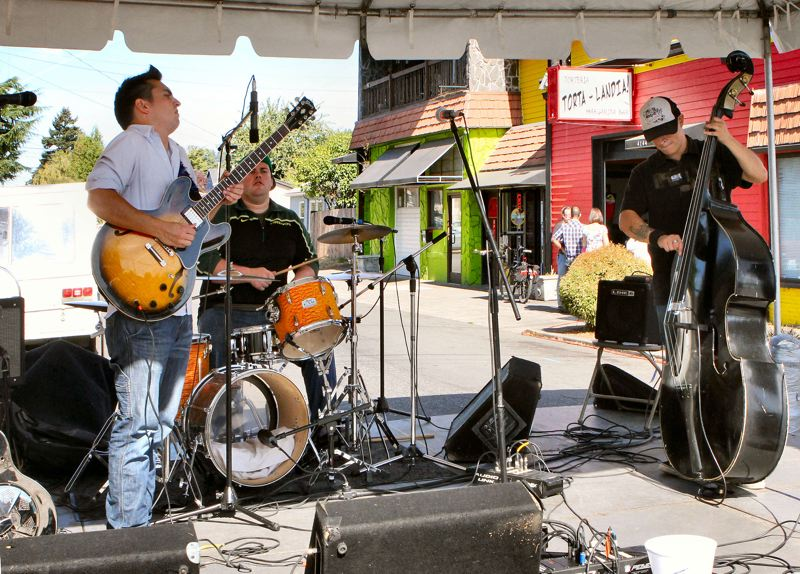 by: DAVID F. ASHTON - The Ben Rice Band plays on the Fun on Foster Festival Music Stage at S.E. 60th Avenue and Foster Road.