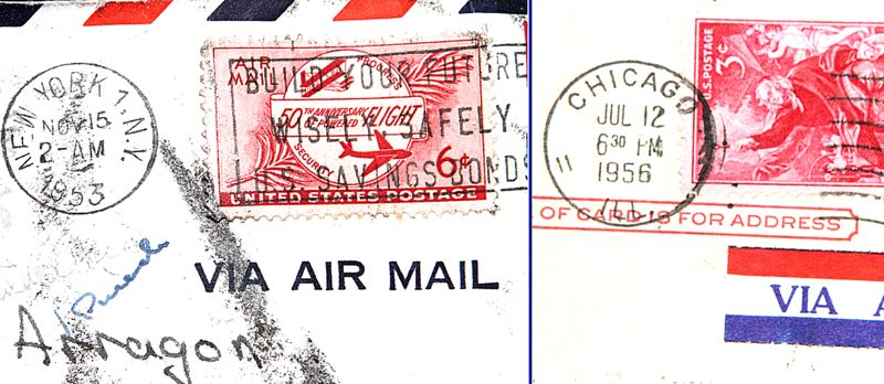 by: DAVID F. ASHTON - These postmarks clearly show when this letter and the post card were mailed to the McCullough residence, today presumably no longer occupied -  even in spirit - by the Arragons.
