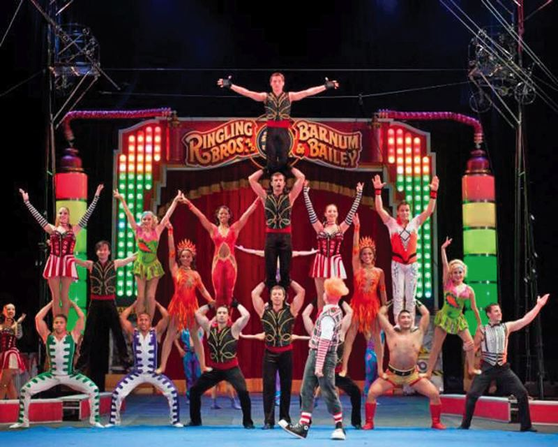 by: COURTESY OF RINGLING BROS./BARNUM BAILEY - The circus is coming to town! The Ringling Bros. and Barnum & Bailey Circus puts on Fully Charged - Gold Edition, Sept. 12-15 at Moda Center.