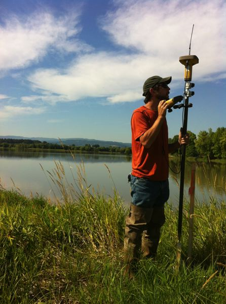 by: SUBMITTED - John Gillian, of the West Multnomah Soil and Water Conservation District, surveys Sauvie Island's Sturgeon Lake.