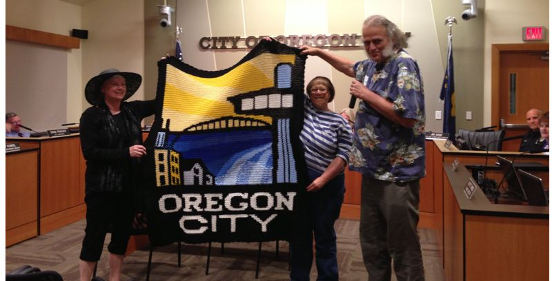 by: PHOTO COURTESY: CITY OF OC - Zona Smith (middle) is pictured with her friend Elaine Manley and Mayor Doug Neeley.