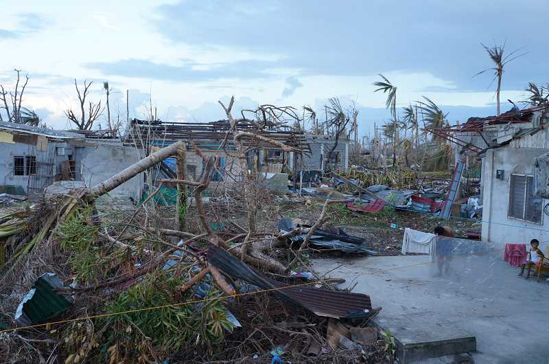 by: SUBMITTED PHOTO - The typhoon killed more than 6,000 and injured more than 27,000, while displacing 4 million citizens.