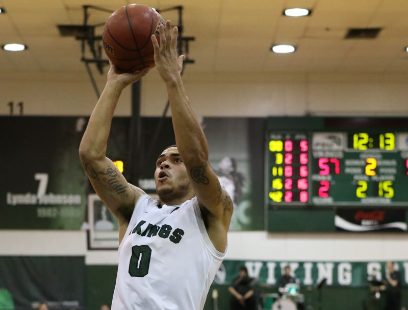 by: COURTESY OF STEVE BRENNER - Gary Winston, Portland State guard, helped the Vikings knock off Montana for their first Big Sky win of the season.