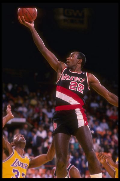 by: GETTY IMAGES - He burned the steaks, but former Portland Trail Blazer Clyde Drexler thinks this years Blazers could compete for an NBA title. He helped the Blazers to the title match twice in the early 1990s.