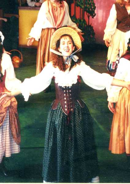 Debbie Hunter as Fiona in Brigadoon.