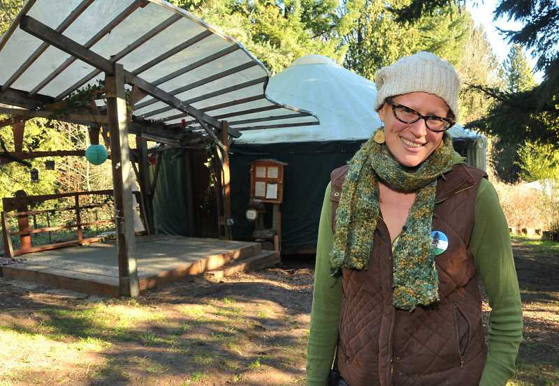 by: PAMPLIN MEDIA GROUP PHOTO: VERN UYETAKE - Brenna Bell has played a key role in making Tryon Life Community Farm a reality. Thanks to a new yurt, the farm is better than ever.