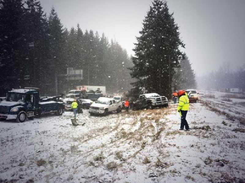 by: WSDOT - Matthew Scott, 39, of Tualatin, was killed in a massive pileup on Interstate 5 near Battle Ground, Wash., on Thursday.