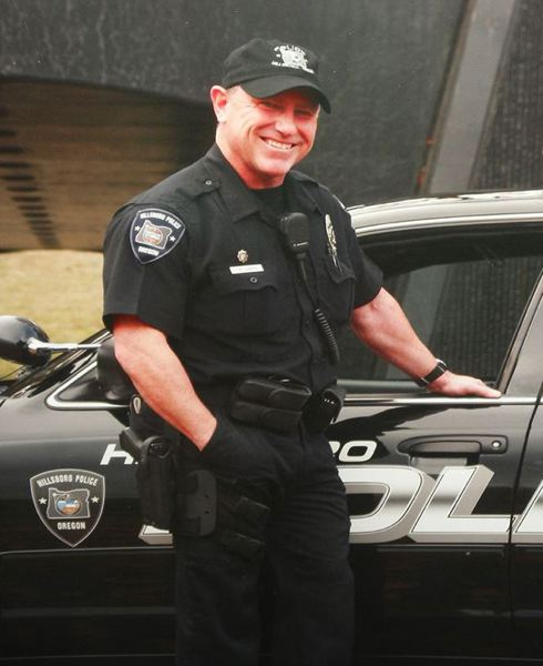 by: COURTESY PHOTO - Tim Cannon in his Hillsboro police uniform.