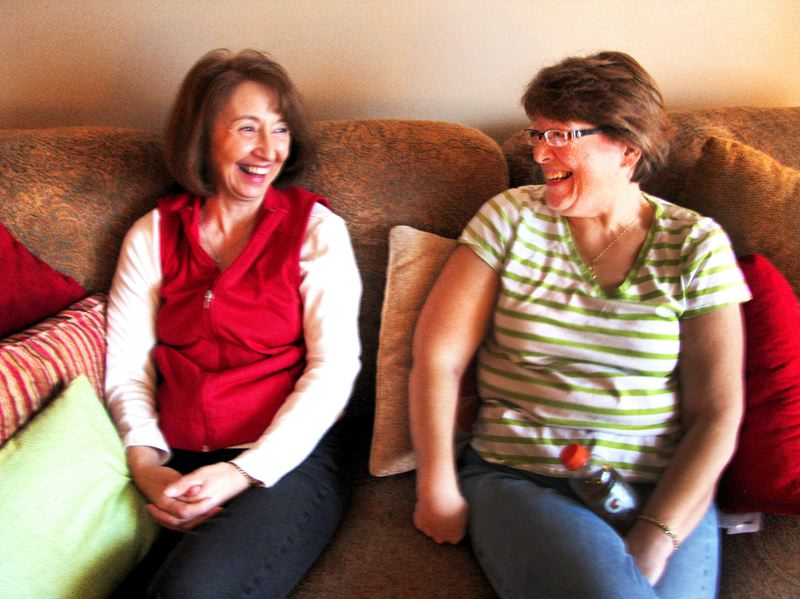 by: GRESHAM OUTLOOK PHOTO: BEVERLY CORBELL - Peggy Parker, left, shares a laugh with her aunt, Amie Griggs. Parker saved Griggs life by donating a kidney to her in December.