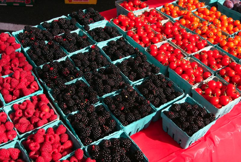 by: OUTLOOK FILE PHOTO - Shoppers will find locally grown fruits and vegetables, flowers and handmade arts and crafts at the new Saturday Market, which is intended to complement the long-running Gresham Farmers Market in the downtown core area.