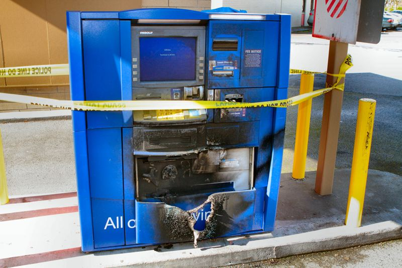 by: DAVID F. ASHTON - A suspect had expected to get rich quickly by burning his way into this ATM machine. It didnt work. Now hes in jail.