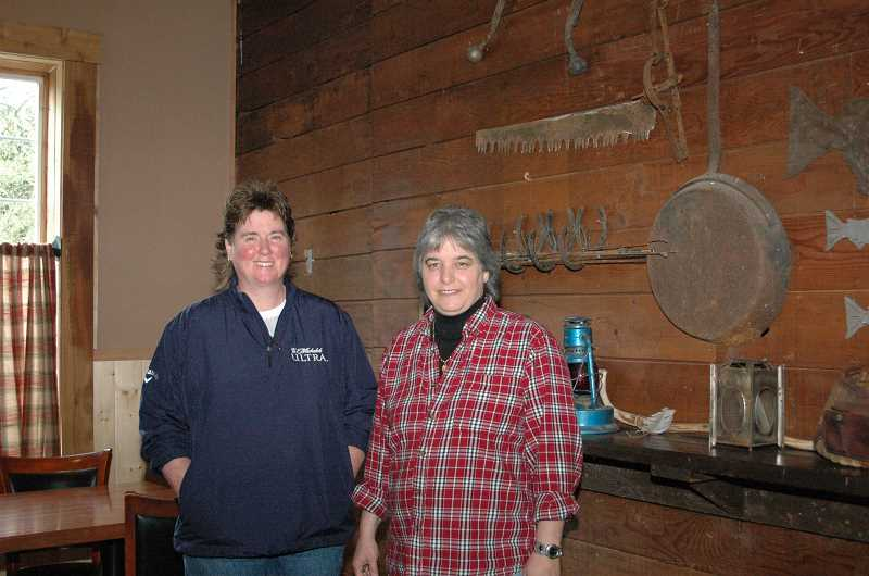 by: ISABEL GAUTSCHI - Pam Bradley. left, and Janet Ritz had long dreamed of opening a comfortable, family oriented restaurant.