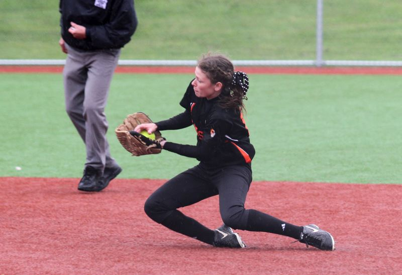 by: JON HOUSE - Gladstone senior Julia Schumaker has been starring with her bat as well as her glove this season. Through six games the Gladiator second baseman sported a team-leading .571 batting average, with 12 hits and 11 runs scored.