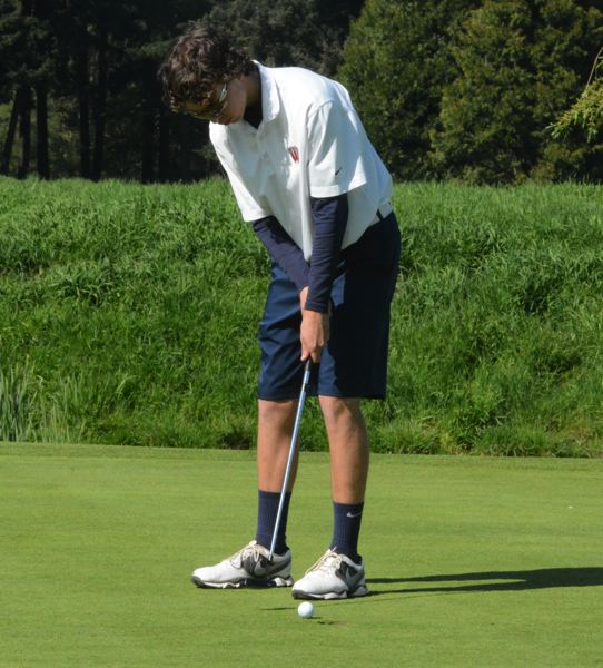 by: TIMES PHOTO: MATT SINGLEDECKER - Westview junior Rory Wescott switched his putting grip at Langdon Farms on Monday and was able to close his round at just three over par.