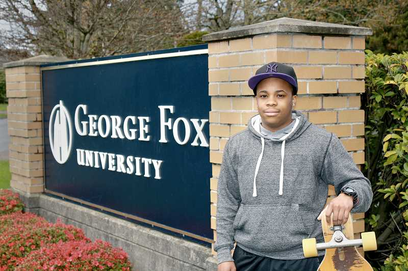 by: SUBMITTED - Fighting discrimination - Jaycen, a transgender student at George Fox University who goes by 'Jayce,' has taken his fight to live on campus with male friends next year public after his appeal to do so was denied April 3 by President Robin Baker. A Title IX discrimination complaint was filed on his behalf Friday with the U.S. Department of Education.
