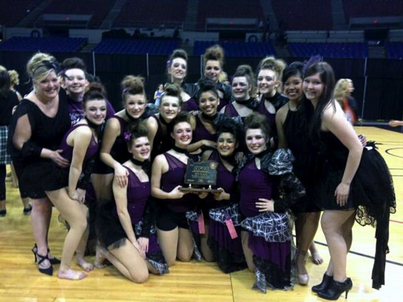 by: CONTRIBUTED BY: JENNA JARVIS - The dance teams Oregon-shaped trophy will be displayed at Sandy High School.
