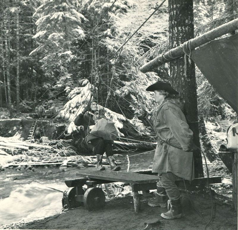 by: CONTRIBUTED PHOTO - With her engineers mind, Smith was instrumental in helping with rescues during floods in 1964. A memorial for Smith, who died March 29, will be held Sunday, April 27, at the Mt. Hood Lions Club.