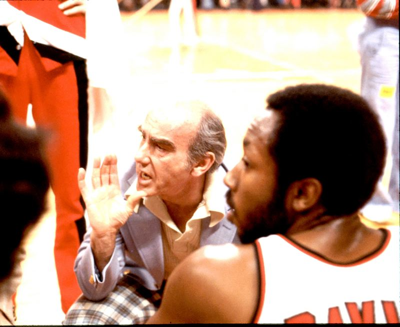by: COURTESY OF THE PORTLAND TRAIL BLAZERS - Jack Ramsay coached the Portland Trail Blazers for 10 years, 1976 to 1986, earning an NBA title in 1977. The Hall of Fame coach spent the final years of his career as a commentator for ESPN.