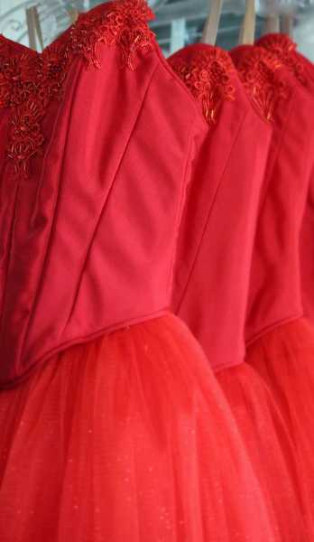 by: SUBMITTED: PORTLAND FESTIVAL BALLET/DASA OBEREIGNER - Bodices, like those on the Courtier dresses for 'Alice in Wonderland,' can take up to 20 hours to create.