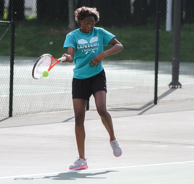 by: HILLSBORO TRIBUNE PHOTO: AMANDA MILES - Eka Essien has only lost one set in singles play this spring, and will be a favorite to repeat as conference champion.