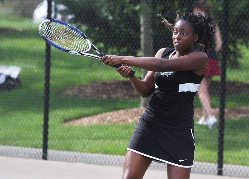 by: HILLSBORO TRIBUNE PHOTO: AMANDA MILES - Neyen Essien will be looking to recapture the magic that got her into the finals of last year's district tennis tournament.