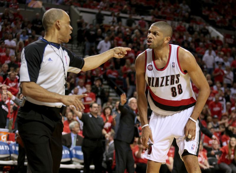 by: TRIBUNE PHOTO: JONATHAN HOUSE - Forward Nicolas Batum and the Trail Blazers didn't get the result they wanted Saturday, dropping Game 3 to San Antonio at Moda Center.
