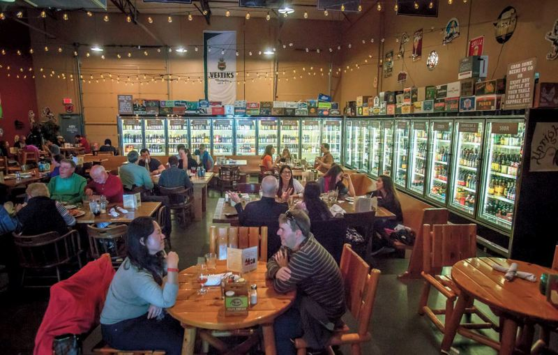 by: TRIBUNE PHOTOS: JONATHAN HOUSE - ABV Public House opened three months ago to an enthusiastic crowd. Beer - with hundreds of bottle choices and more than 30 on tap - and a hearty food menu go well together at the Hillsboro establishment.