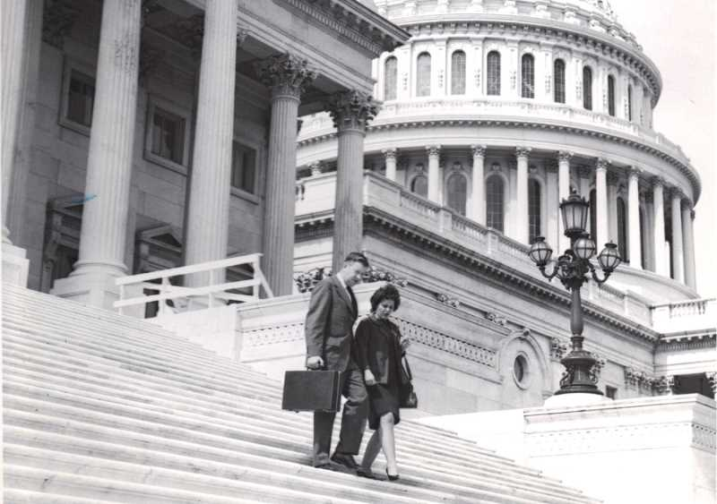 by: COURTESY OF BILLIE REYNOLDS - LEAVING THEIR MARK - Billie and Bill 'Red' Reynolds walked up and down many sets of stairs while working in Washington, D.C., for more than a decade for the National School Bus Association.