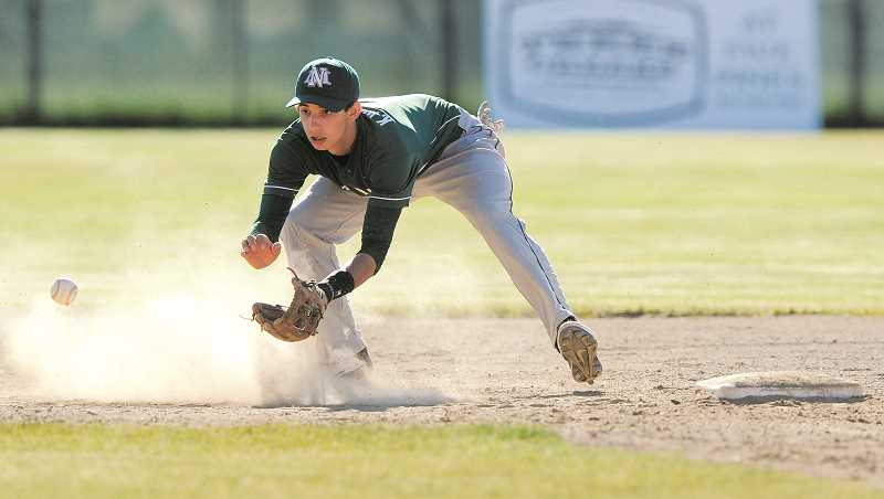 by: RYAN BRENNECKE, BEND BULLETIN - Senior Kyle Williamson went 2-for-4 to end his storied career at North Marion, which includes back-to-back selections to the 4A All-State team and Tri-Valley Player of the Year honors.