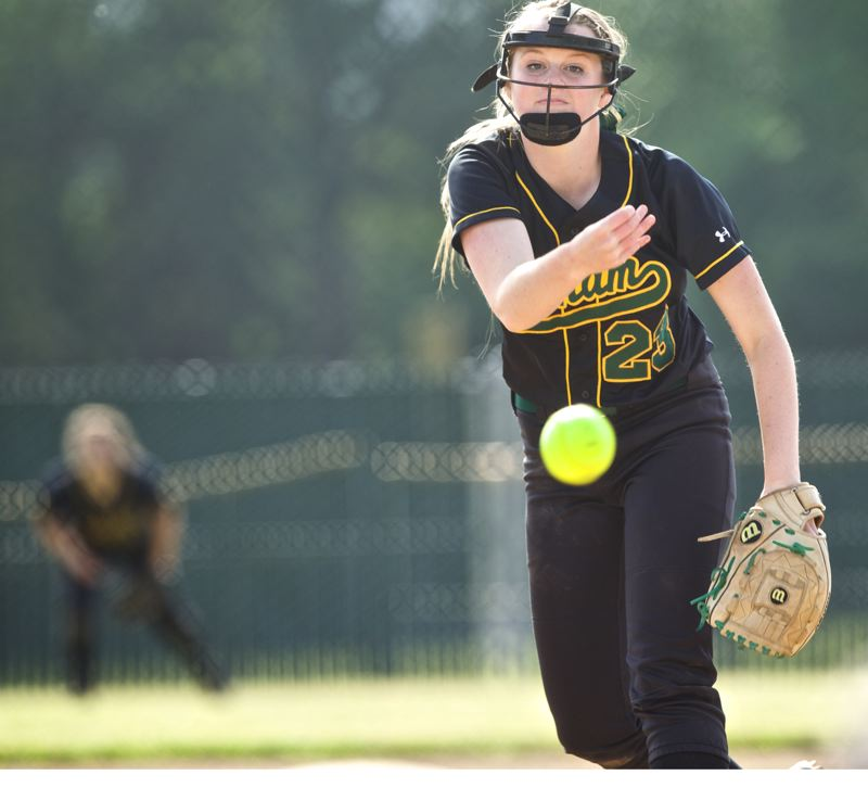 by: JAIME VALDEZ - Putnam freshman Sarah Abramson had a shutout going until the sixth inning of Saturdays state final.