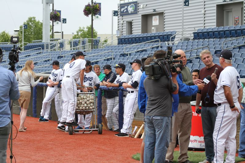 by: HILLSBORO TRIBUNE PHOTO: AMANDA MILES - Hillsboro Hops media day