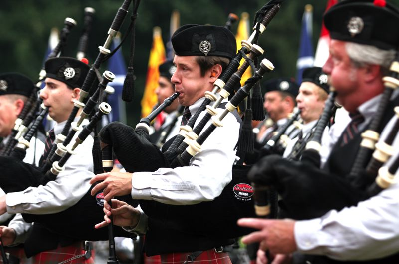 by: FILE PHOTO - The sound of bagpipes will fill the air on the grounds of Mt. Hood Community College for the always popular Portland Highland Games.