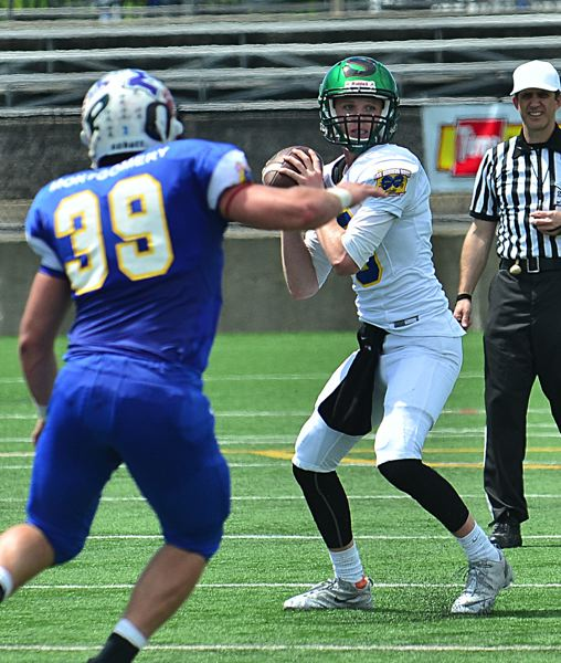 by: VERN UYETAKE - Hayden Coppedge was one of two quarterbacks for the winning North squad at the Les Schwab Bowl.