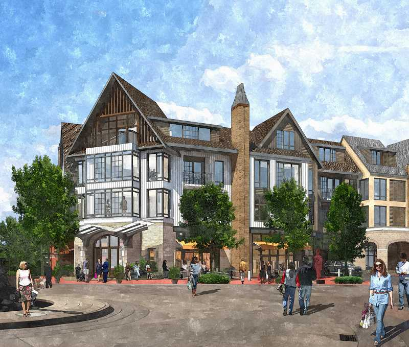Photo Credit: SUBMITTED PHOTO - Developer Patrick Kessis revised proposal for downtowns Block 137 calls for a four-story, 290,000-square-foot development; it would include 207 residential units and about 36,000 square feet of retail space.