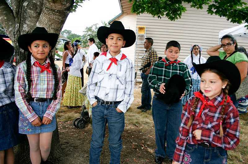 Photo Credit: NEWS-TIMES FILE PHOTO - Children at last years Summer Fest dressed up for dancing, one of many fun activities that will return this year, along with face painting, pony rides and more.