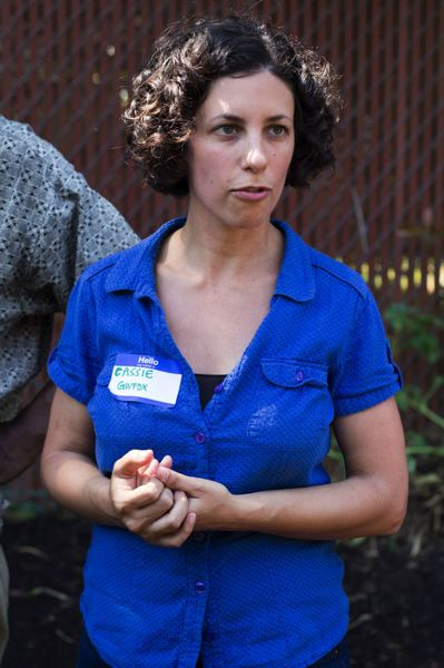 Photo Credit: TRIBUNE PHOTO: LACEY JACOBY - Cassie Cohen, executive director of Groundwork Portland, engages neighbors and youth in environmental justice projects and community education around the city.