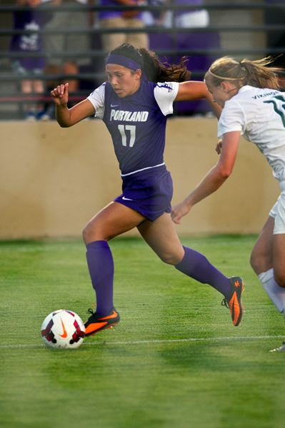 Photo Credit: PORTLAND PILOTS - Once a brilliant goal scorer for Scappoose High School, Ariel Viera now runs up the back line for the Portland Pilots, a 'dream school' for collegiate womens' soccer, according to head coach Garrett Smith.