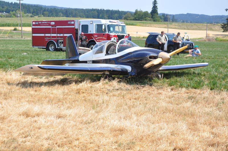 Photo Credit: WASHINGTON COUNTY SHERIFF'S OFFICE - Pilot John Kimmel walked away from the crash of his 1991 RV-3M plane in North Plains.