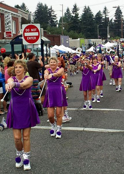 Photo Credit: SUBMITTED PHOTO - Led by baton captain Patti Waitman-Ingebresten, The Beat Goes On has a fleet of baton twirlers who accompany every musical performance. They perform this weekend in the Multnomah Days Parade.